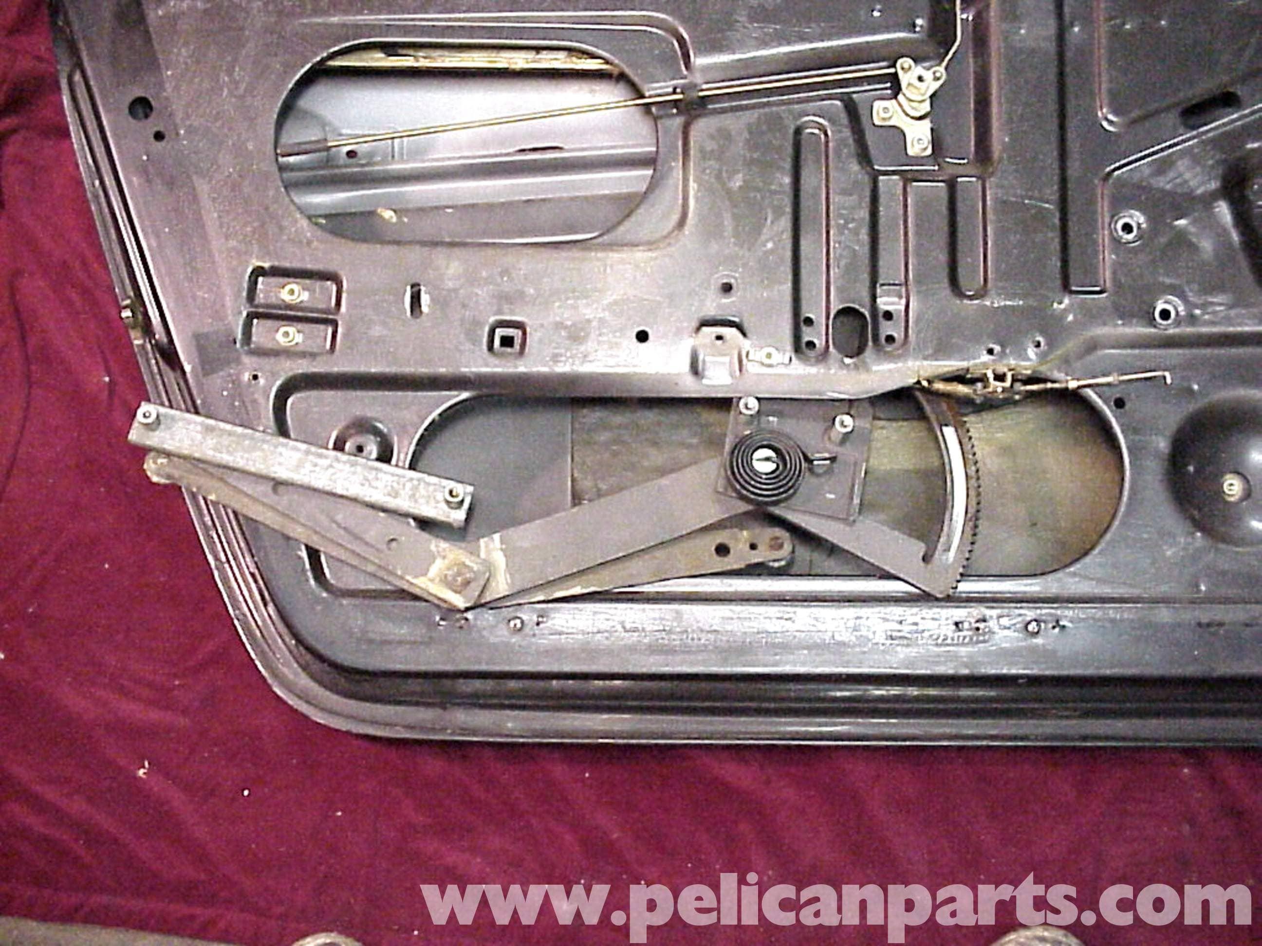 porsche 911 window regulator and motor replacement 911 1965 89 930 turbo 1975 89