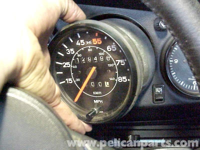 porsche 911 speedometer removal 911 1965 89 930 turbo 1975 89 pelican parts diy