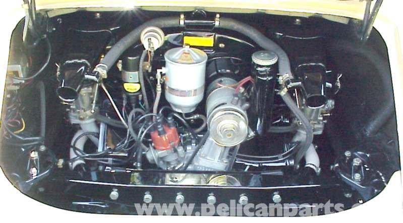 porsche overview pelican parts diy the engine compartment of a typical 912