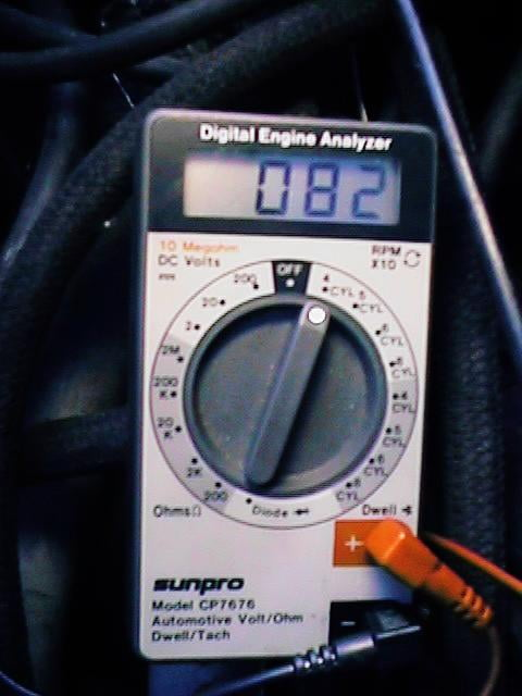 Dwell tachometer hook up