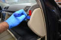 Use a trim removal tool and gently pry the cover away from the dash (red arrow).