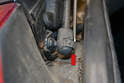 Trunk Shock - Follow the same procedure for the lower mounting point as you preformed on the upper (red arrow).