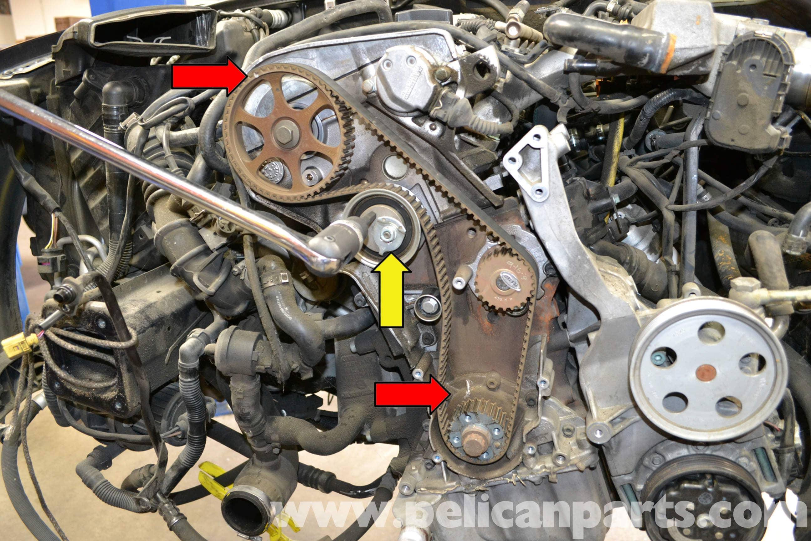 Audi A4 B6 Timing Belt Tensioner Replacement (1.8T 2002-2008 ... Audi Timing Belt on daihatsu timing belt, audi brake pads, cadillac timing belt, audi grille, audi muffler, audi valve cover gasket, audi radiator, audi timing chain, a6 timing belt, audi spark plugs, mustang timing belt, audi water pump, mini timing belt, dodge timing belt, 2002 camry timing belt, mercedes benz timing belt, geo timing belt, audi control arm, mitsubishi timing belt, audi fuel pump, audi alternator, chevrolet timing belt, sterling timing belt, porsche timing belt, jetta timing belt, audi struts, fiat timing belt, boxster timing belt, bmw timing belt, audi catalytic converter, gmc timing belt, audi oxygen sensor, smart timing belt, audi thermostat, audi repair manual, infiniti timing belt, audi oil filter, audi exhaust,
