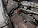 Use your wrench or socket and remove the second O-2 sensor (red arrow, not shown).