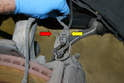 Front Sensor- Disconnect the cable from the retaining clips.