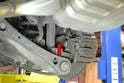 Rear Sensor- The rear ABS sensor is mounted on the top of the wheel bearing support (red arrow).