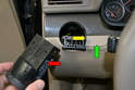Dimmer Switch: Our project vehicle did not come with the dimmer switch but if you vehicle has one with the headlight switch removed (red arrow) simply reach into the switch opening (yellow arrow 0wht your fingers and push the piece (green arrow out from behind.