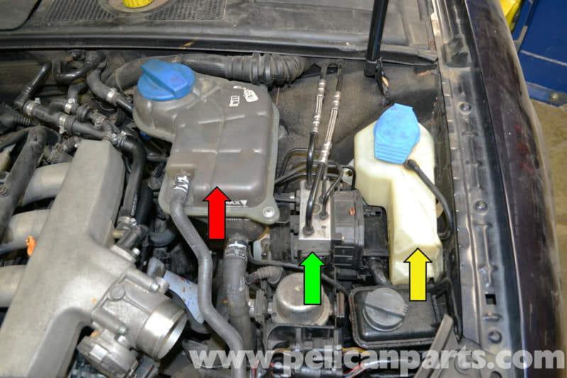 Audi A4 B6 Brake Pressure Sensor Replacement 2002 2008