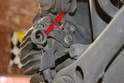 Cable Adjustment: Use a 10mm wrench and adjust the compensator until the lever on the brake caliper lifts off the stop.