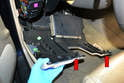 You will need to remove the rod from the booster connecting to the brake pedal inside the vehicle.