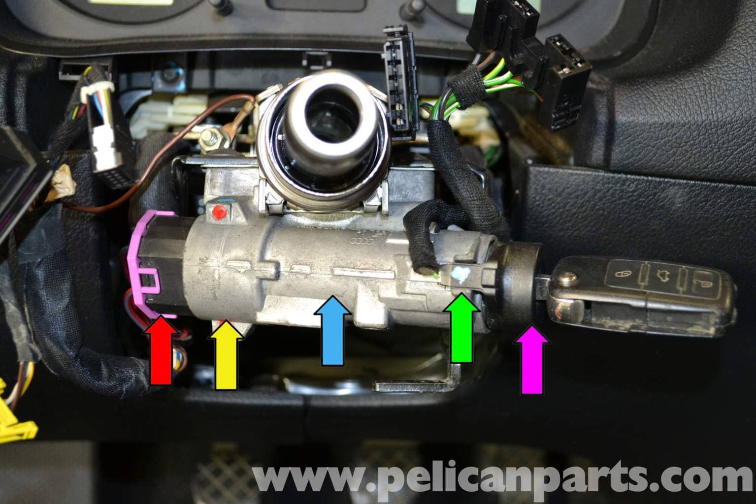 Audi A4 B6 Ignition Switch And Lock Cylinder Replacement