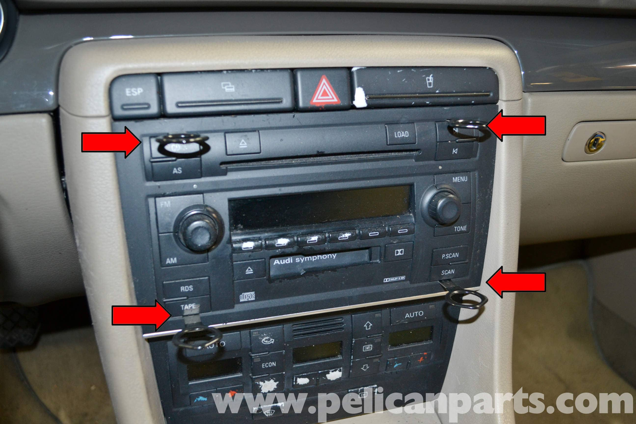 Car stereo replacement buttons