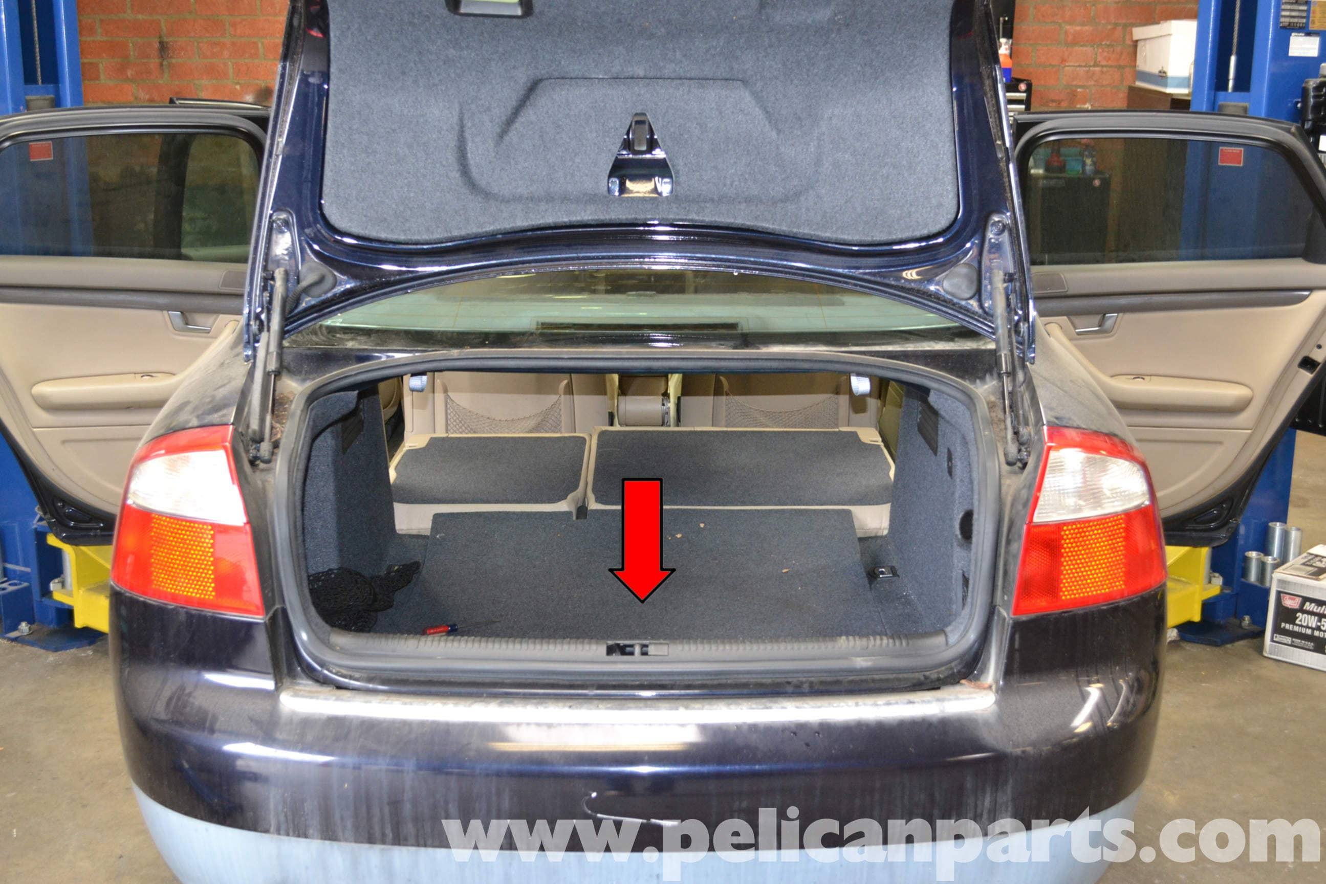 Audi A4 B6 Rear Interior Panel Removal 2002 2008