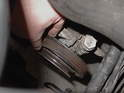 Next, I routed it around the power steering pump pulley.