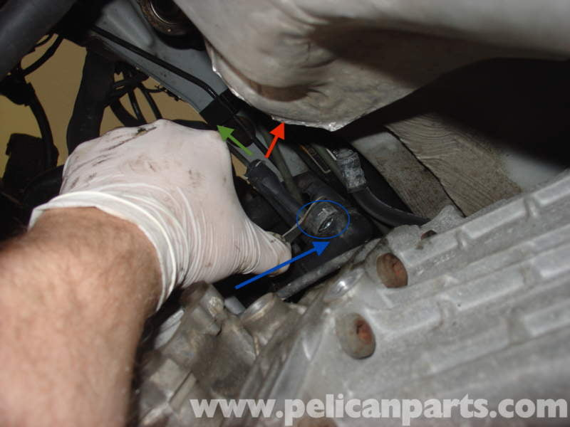 audi a4 quattro b5 clutch slave cylinder replacement 1997 2001 once the bolt is removed remove the slave cylinder plunger and bellows from the transmission