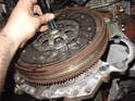 Using the clutch disc centering tool, put the disc in place.