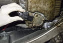 Clean the area around the oil condition sensor thoroughly.