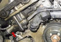 M54 Engine Exhaust VANOS Solenoid: Remove the engine cooling fan and fan shroud.