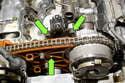 6-cylinder engine: Remove valve cover.
