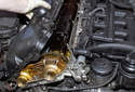 Lift the valve cover off cylinder head.