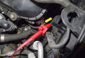 Testing with sensor installed: Connect the camshaft position sensor electrical connector.