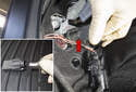 Fender taillight: To replace a bulb, rotate the bulb socket (red arrow) 45° counter clockwise and remove it.
