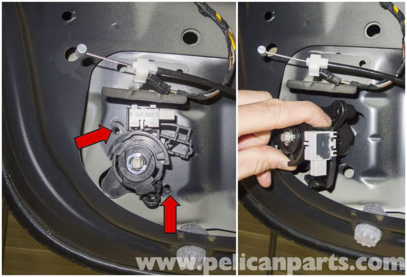 bmw e60 5 series trunk lock cylinder and latch replacement 2003 lock cylinder the lock cylinder is mounted via integrated threaded bores red arrows