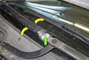 Right wiper blade adjusting: I like to mark the position of the wiper arm using a paint marker.
