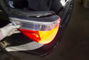 Remove the rear fender mounted taillights.