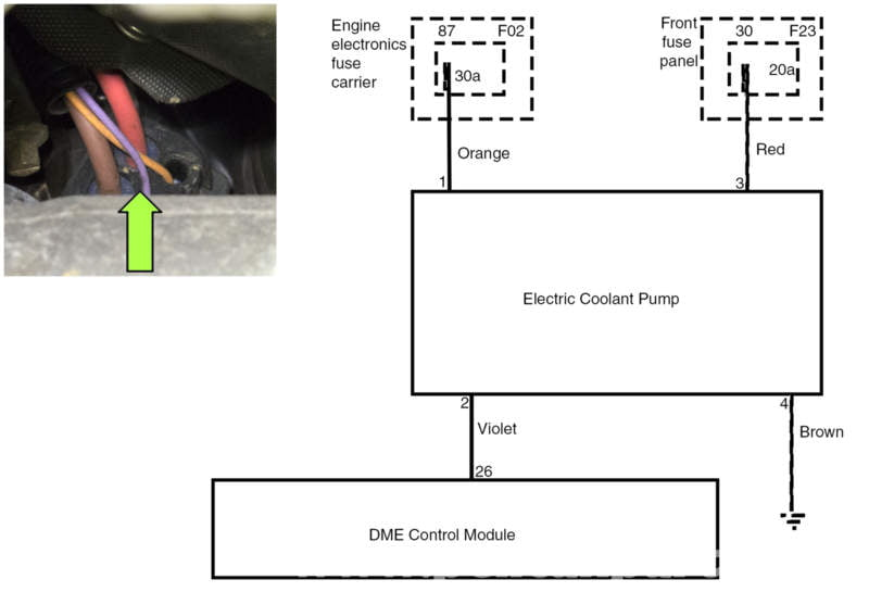 bmw e series water pump testing pelican parts technical article this is a wiring diagram from our subject vehicle