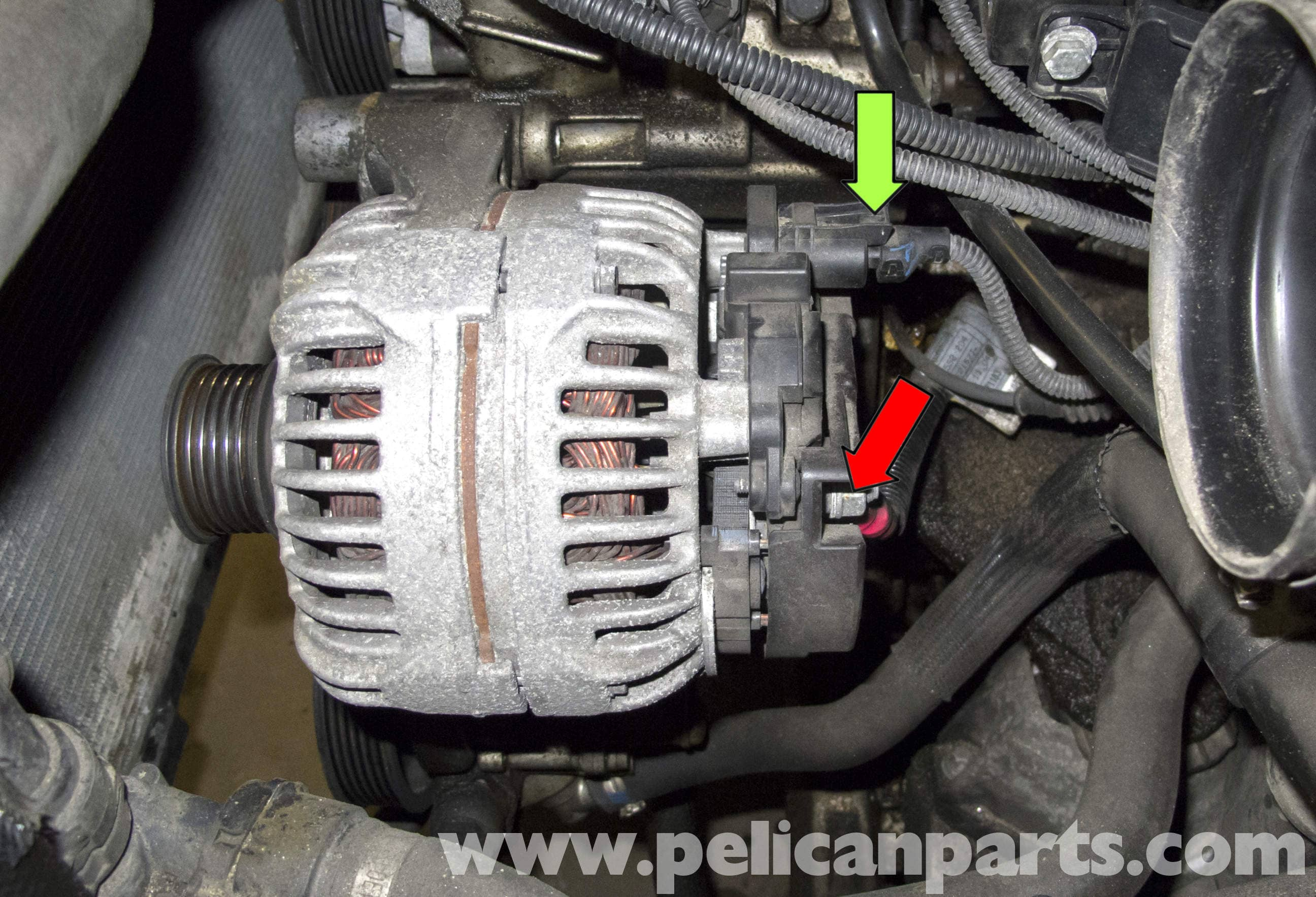 BMW E60 5-Series Alternator Replacement (M54 6 Cylinder ...