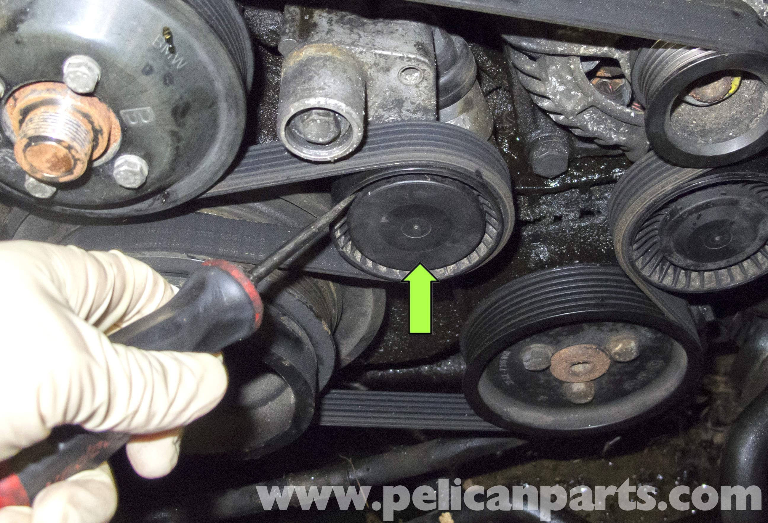 BMW E60 5-Series Water pump Replacement (M54 6 Cylinder) - Pelican Parts Technical Article