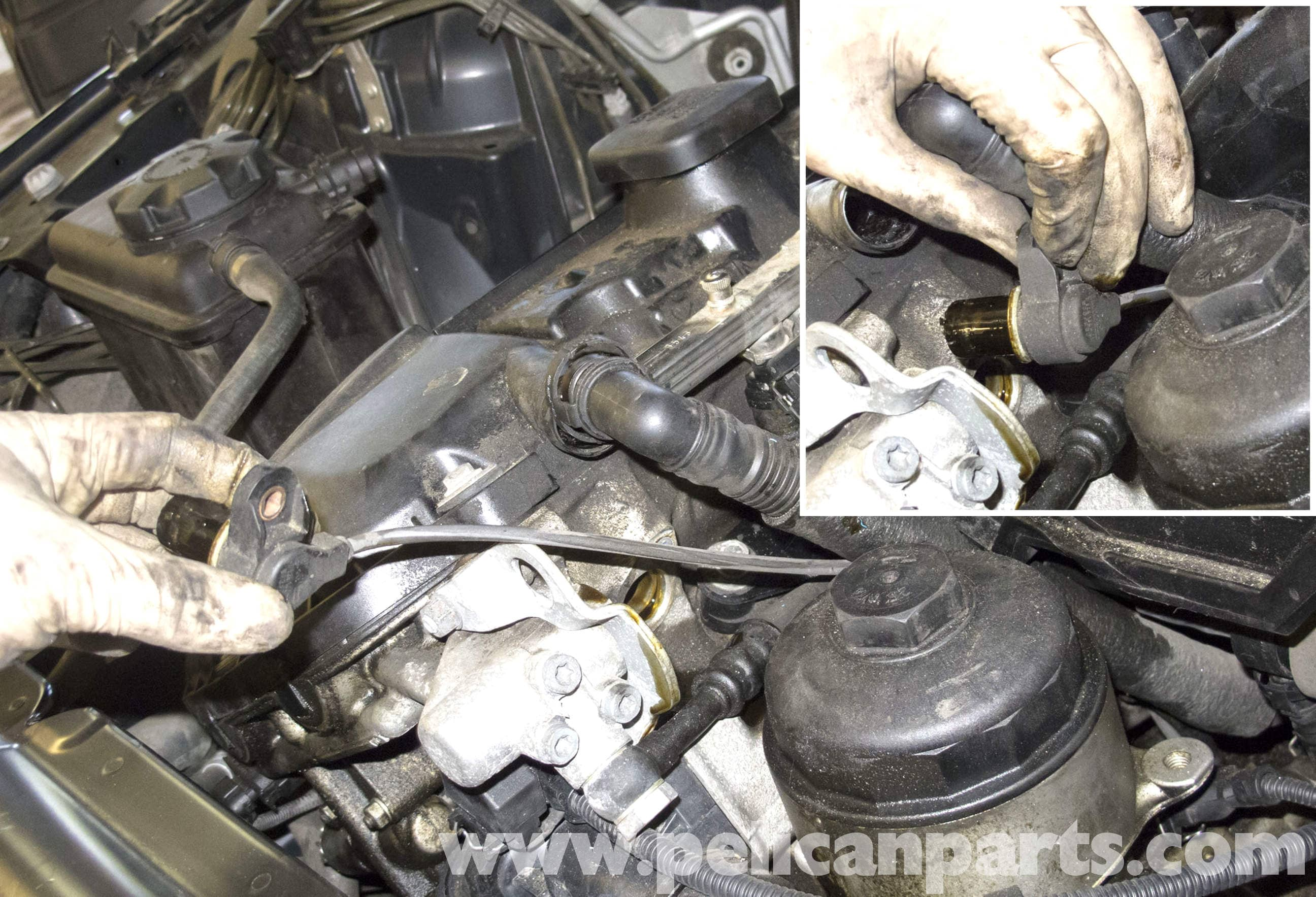 BMW E60 5-Series Camshaft Sensor Replacement (M54 6-Cylinder) - Pelican Parts Technical Article
