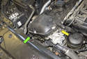 On E60 models with a M54 6-cylinder engine, the intake (inlet) camshaft sensor is located behind the VANOS solenoid (yellow arrow).