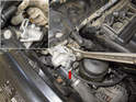 Intake camshaft sensor: Then, using a 32mm wrench, loosen the VANOS solenoid.