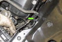 Exhaust camshaft sensor: Using a 5mm Allen bit, remove the camshaft sensor fastener (green arrow).