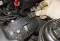 6-cylinder: Disconnect the mass air flow sensor electrical connector by pulling the connector straight out of the sensor.