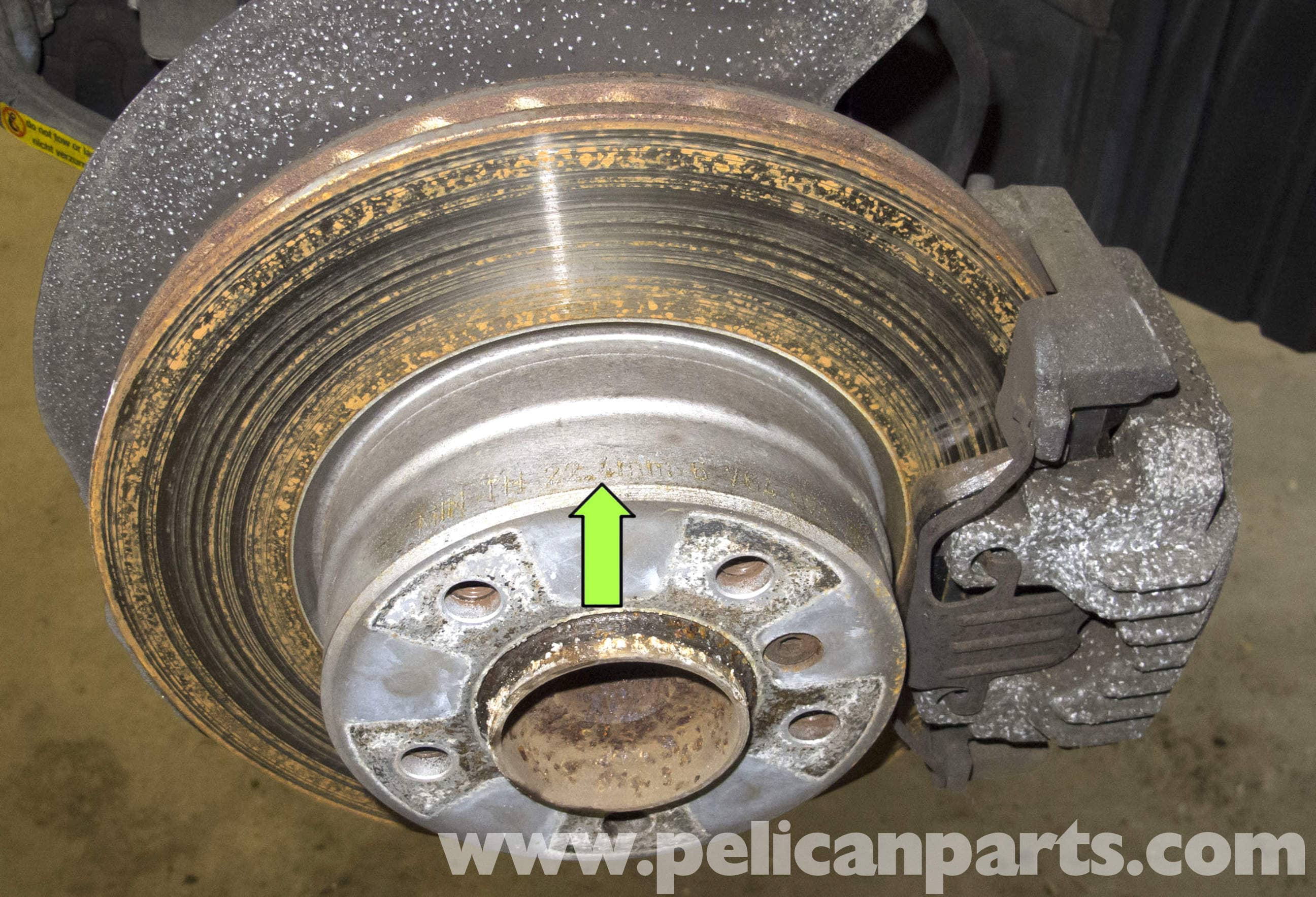 Minimum Thickness For Brake Pads : Bmw e series brake rotor specification checking