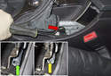 Check that the parking brake lever is in the released position.
