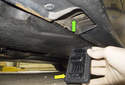 If a jack pad is missing, replace it before jacking the vehicle.