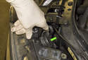 High beam bulb: To access the high beam bulb, rotate the access door 30 degrees and remove it from the headlight.