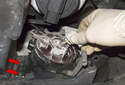 Fog Light: Rotate the fog light bulb socket counterclockwise to remove it.