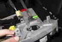 Pull the SZL assembly forward and remove it from the steering column and access the electrical connectors.