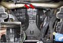 Center Compartment Flap: Remove the center console.