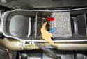 Left Dashboard Vent: Then lift the duct up and hold it.