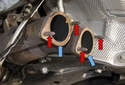 Once the exhaust has been removed, you can replace the front mufflers or repair the system as needed.