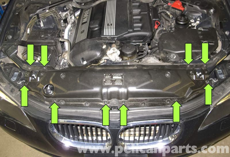 Bmw E60 5 Series Hood Release Cable Replacement 2003 2010
