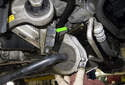 Front sway bar: Pull the sway bar down and away from the subframe.