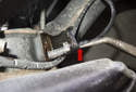 Rear sensor: Pull the ABS sensor out of the steering knuckle.