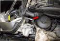 Intake camshaft sensor: Remove the intake camshaft sensor 5mm Allen fastener (red arrow).